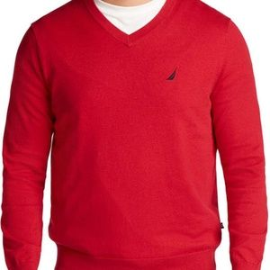 Nautica V Neck Navtech Sweater